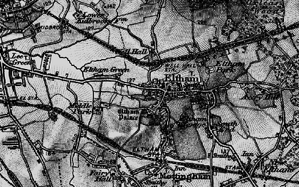 Old map of Eltham in 1896