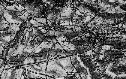 Old map of Elton in 1897