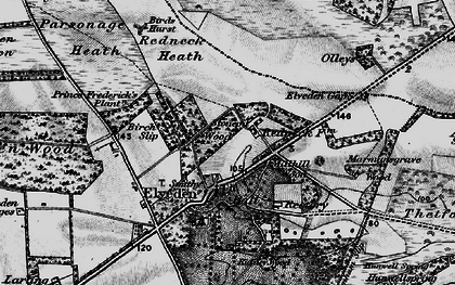Old map of Westgouch Plantn in 1898