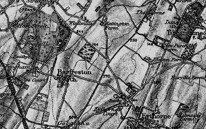 Old map of Elvington in 1895