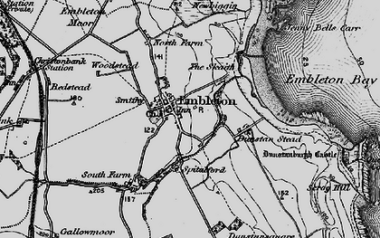 Old map of Woodstead in 1897