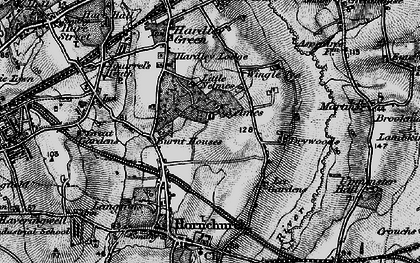 Old map of Lillyputts in 1896