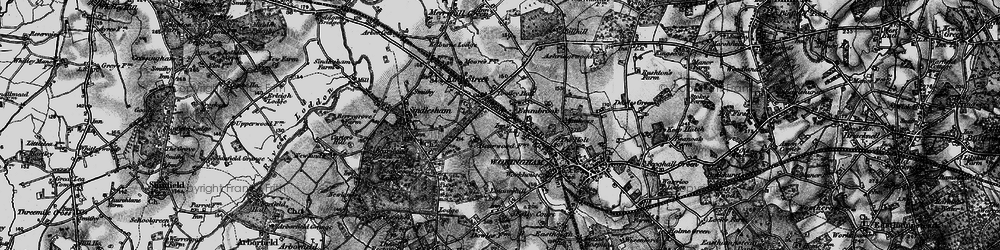 Old map of Woose Hill in 1895