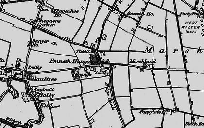 Old map of Titkill Br in 1893