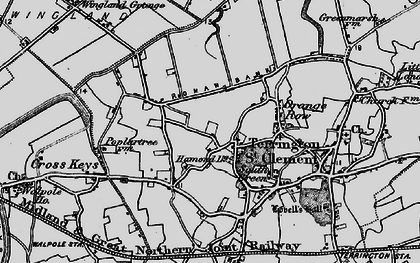 Old map of Wingland Grange in 1893