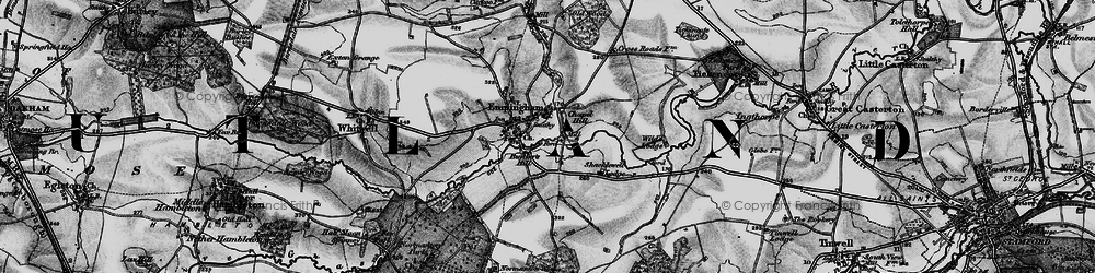 Old map of Empingham in 1895