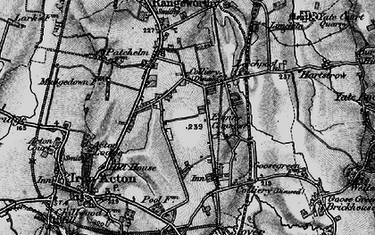Old map of Acton Lodge in 1898