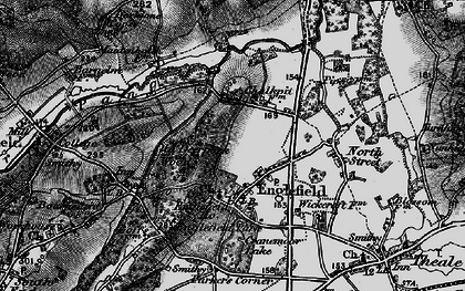 Old map of Englefield in 1895