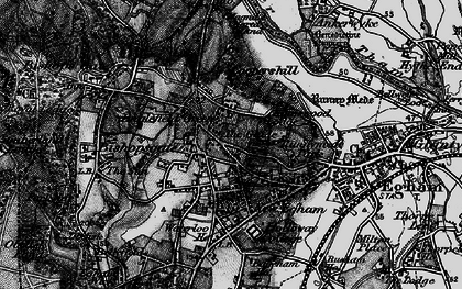 Old map of Englefield Green in 1896