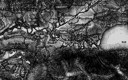 Old map of Lankrigg Moss in 1897