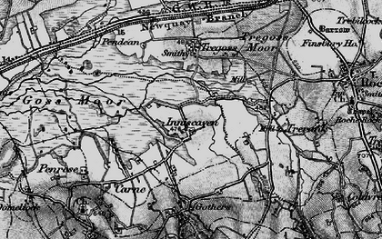 Old map of Enniscaven in 1895