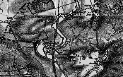 Old map of Whitehill Earth Station in 1896