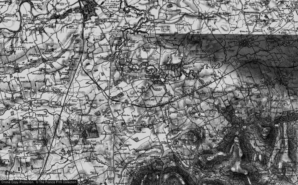 Old Map of Historic Map covering Toft Hill in 1898