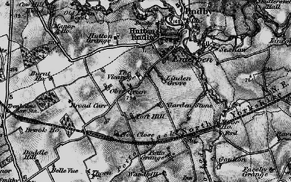Old map of Toft Hill in 1898
