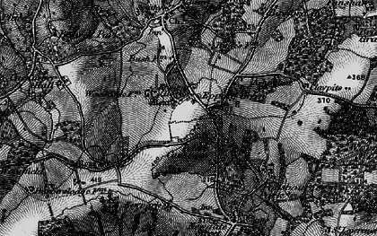 Old map of Woodcock Lodge in 1896