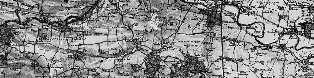 Old map of Eppleby in 1897