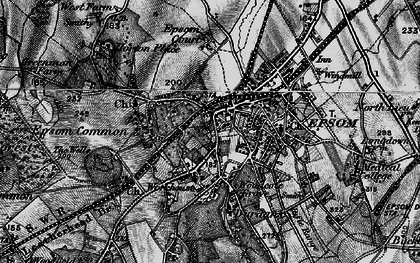 Old map of Epsom in 1896