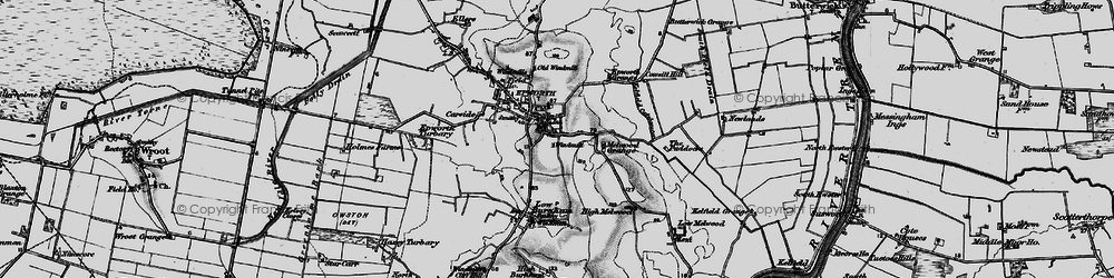 Old map of Epworth in 1895