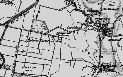 Old map of Epworth Turbary in 1895