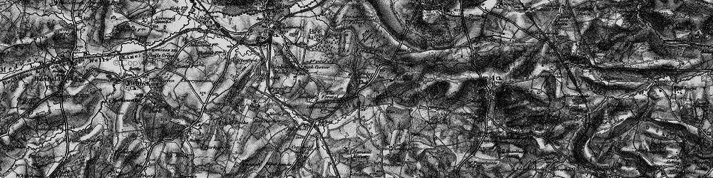 Old map of Eridge Green in 1895