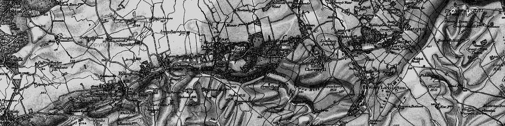 Old map of Erlestoke in 1898