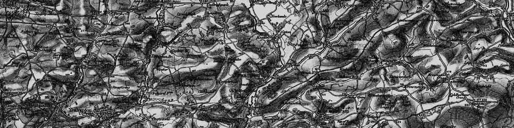 Old map of Ermington in 1897