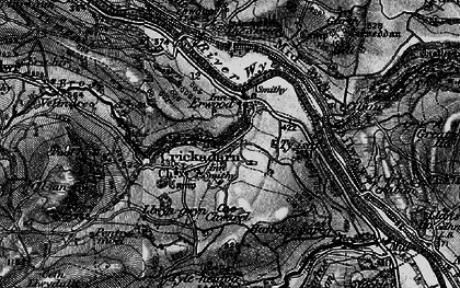 Old map of Erwood in 1896
