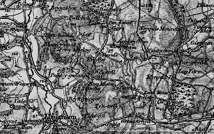 Old map of Eryrys in 1897