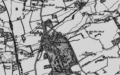 Old map of Escrick in 1898
