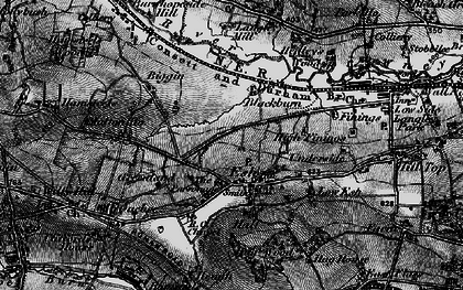 Old map of Langley West Ho in 1898