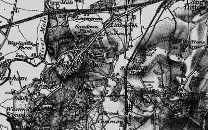 Old map of Esher in 1896