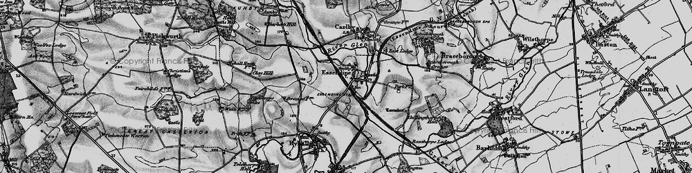 Old map of Tolethorpe Oaks in 1895