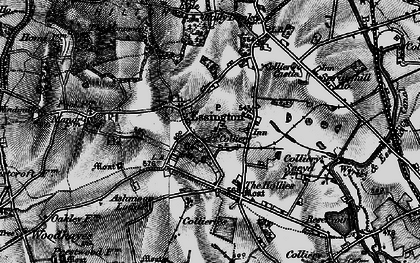 Old map of Essington in 1899