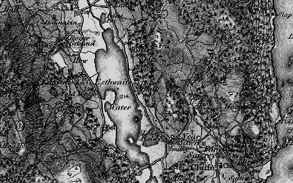 Old map of Esthwaite Water in 1897