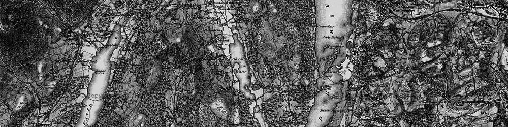 Old map of Esthwaite Water in 1897