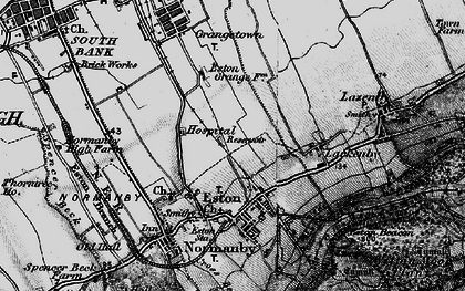 Old map of Eston in 1898