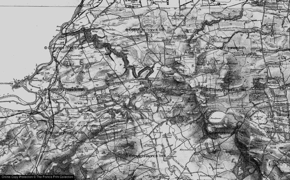 Old Map of Historic Map covering Letham Hill Haugh in 1897