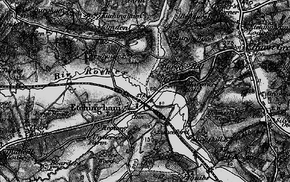 Old map of Etchingham in 1895