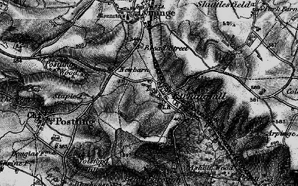 Old map of Etchinghill in 1895