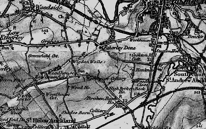 Old map of Woodhouses in 1897