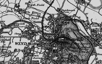 Old map of Eton in 1896