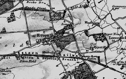 Old map of Etton Pasture School in 1898