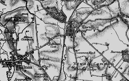 Old map of Ashe Hall (Tara Buddhist Centre) in 1897