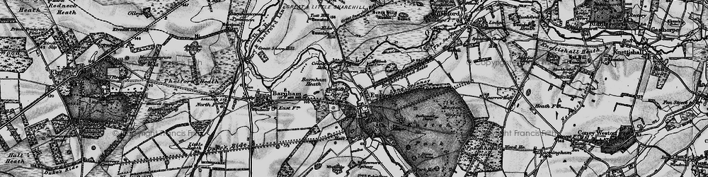 Old map of Wrottesley Wood in 1898