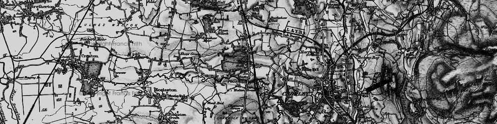 Old map of Woodcock Fold in 1896