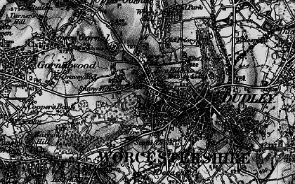 Old map of Wren's Nest Hill in 1899