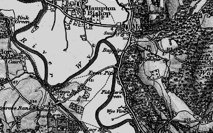 Old map of Bagpiper's Tump in 1898