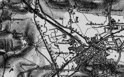 Old map of Even Swindon in 1898
