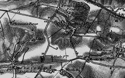 Old map of Astwick Village in 1896