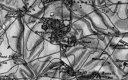 Old map of Everleigh in 1898